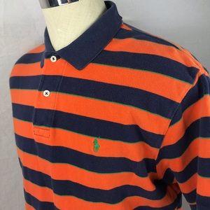 Men's Large Polo Ralph Lauren striped polo shirt
